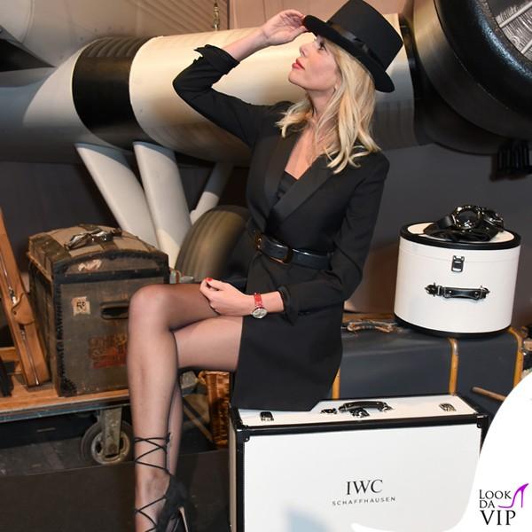 Alessia-Marcuzzi-Ginevra-IWC-Schaffhausen-abito-YSL-scarpe-Gianvito-Rossi-orologio-IWC-3