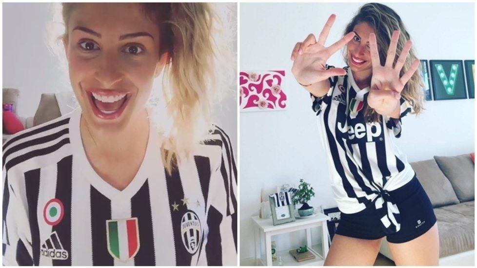 Valentina Allegri, figlia di Max, accontenta i fan e canta l'inno della Juventus su Instagram