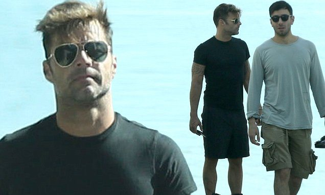 FAMEFLYNET - Exclusive: Ricky Martin Seen Going For A Stroll With Rumored Boyfriend Jwan Yosef In Malibu