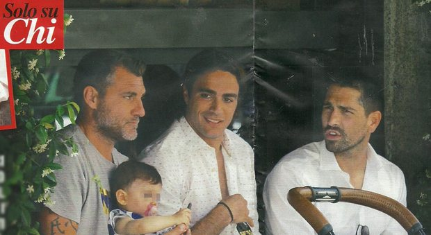 Christian Vieri, Marco Borriello e Alessandro Matri, tre bomber con figlia al seguito