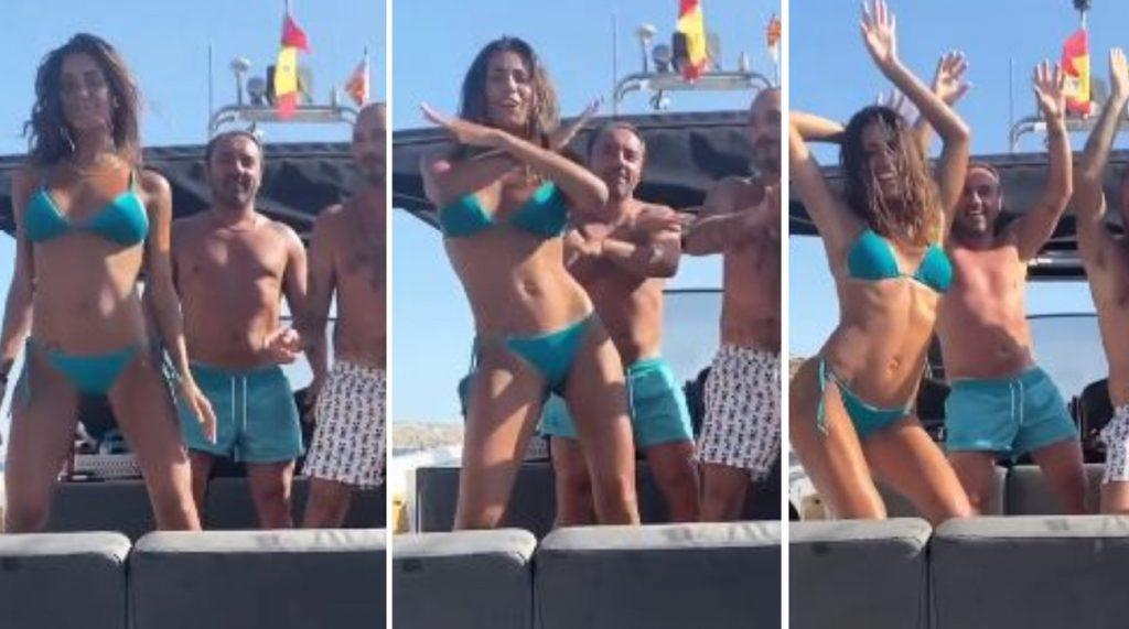 Federica Nargi tik-toker scatenata in barca con gli amici